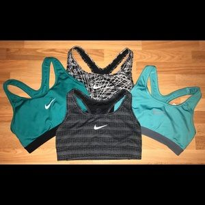4 Nike Dri-Fit Sports Bras size Small